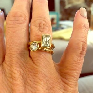 "Like new Banana Republic gold/ ""diamond"" rings."